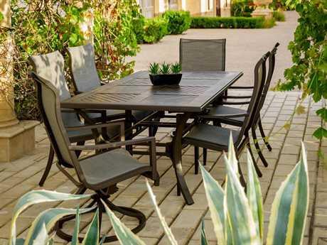 Sunvilla Allegro Aluminum 6 Person Sling Casual Patio Dining Set