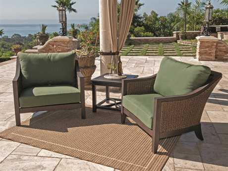 Sunvilla Biscay Aluminum 2 Person Cushion Conversation Patio Lounge Set