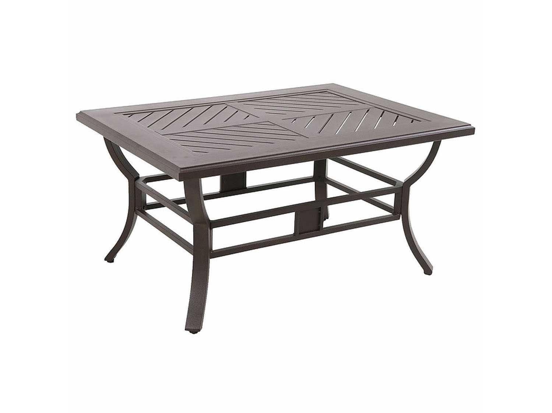 Sunvilla Allegro Cast Aluminum 44 X 32 Rectangular Coffee Table In Sunset C013244 01 Crpn