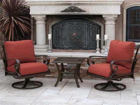 Sunvilla Riva Aluminum 2 Person Cushion Conversation Patio Lounge Set