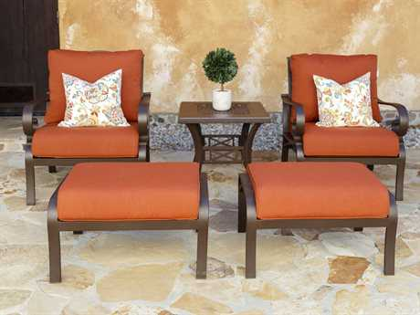 Sunvilla Riva Aluminum 2 Person Cushion Conversation Patio Lounge Set