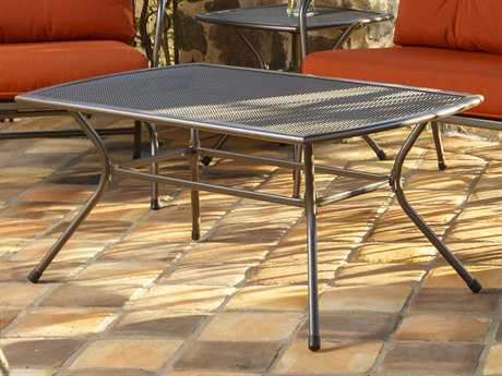 Sunvilla Monaco Steel Graphite 44 x 24 Rectangular Mesh Top Coffee Table