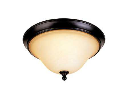 Savoy House Heritage Sutton Place English Bronze Two-Light Flush Mount Light