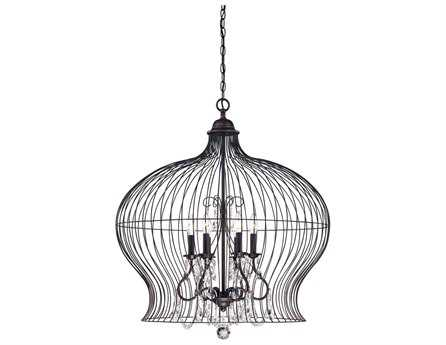 savoy house french country abagail forged black six light
