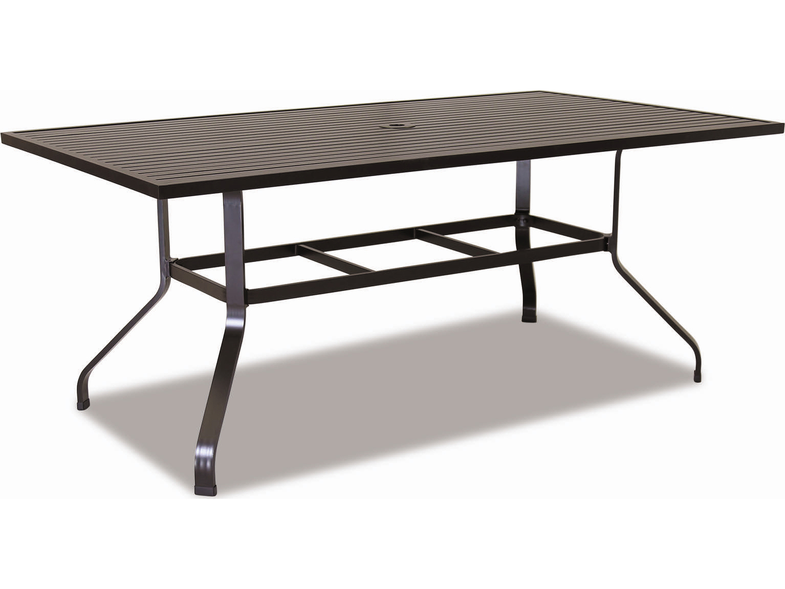 sunset west quick ship la jolla aluminum 72 x 48 rectangular dining table 401 t72. Black Bedroom Furniture Sets. Home Design Ideas