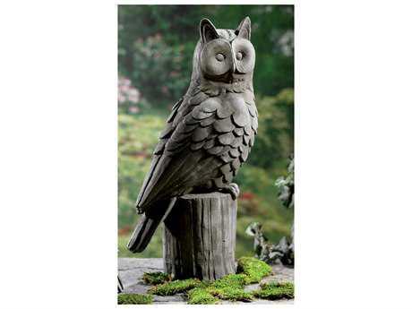 St Croix Kindwer Grey 23'' Wide Owl Garden Statue