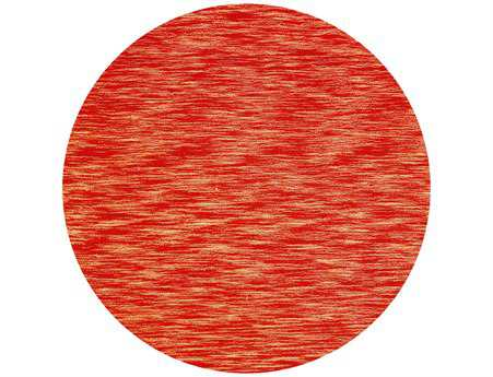 St. Croix Fusion Transitional Red Hand Made Wool Abstract Round 6' x 6' Area Rug - CT60044R