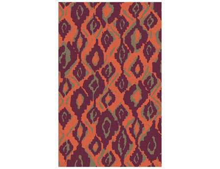 Surya Alameda Modern Orange Hand Made Wool Abstract 2' x 3' Area Rug - AMD1060-23