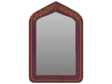 Surya Avanti Burgundy 23.6W x 35.4H Rectangular Wall Mirror