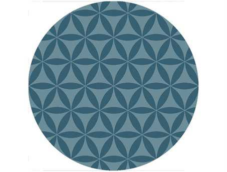 Surya Brentwood Transitional Teal Hand Made Synthetic Geometric Round 3' Area Rug - BNT7695-3RD