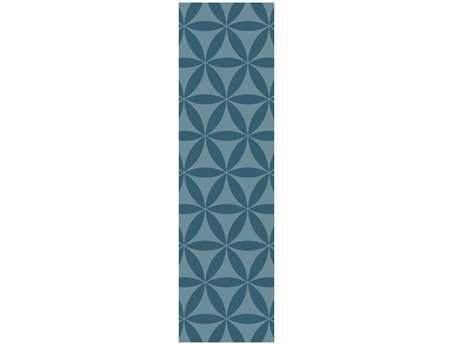 Surya Brentwood Transitional Teal Hand Made Synthetic Geometric Area Rug- BNT-7695-RUN