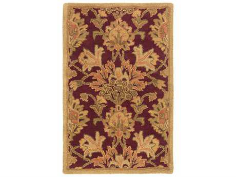 Surya Caesar Traditional Red Hand Made Wool Floral/Botanical 10' x 14' Area Rug - CAE1155-1014