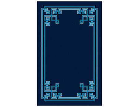 Surya Calaveras Modern Blue Hand Made Wool Geometric 5' x 8' Area Rug - CAV4011-58