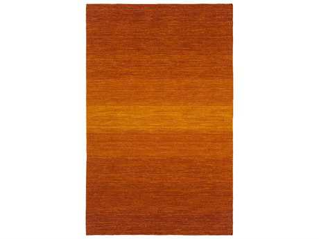 Surya Chaz Modern Orange Hand Made Wool Stripes 2' x 3' Area Rug - CHZ5004-23