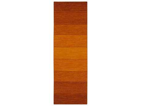 Surya Chaz Modern Orange Hand Made Wool Stripes Area Rug- CHZ-5004-RUN