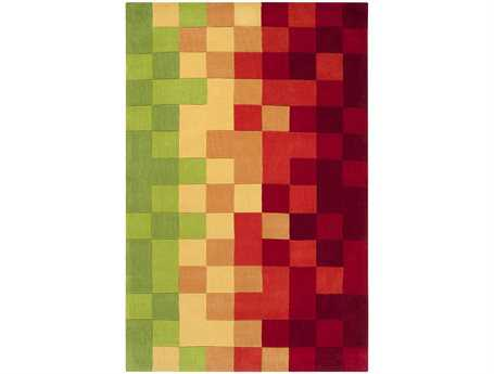 Surya Cosmopolitan Modern Red Hand Made Synthetic Geometric 2' x 3' Area Rug - COS9076-23