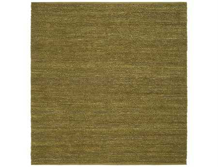 Surya Continental Transitional Green Hand Made Jute Solid Area Rug- COT-1940-SQU