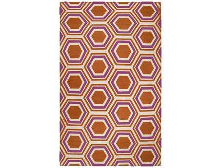 Surya Fallon Transitional Orange Hand Made Wool Geometric 2' x 3' Area Rug - FAL1100-23