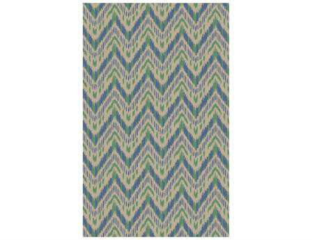 Surya Front Porch Transitional Teal Hand Made Wool Abstract 2' x 3' Area Rug - FRP1003-23