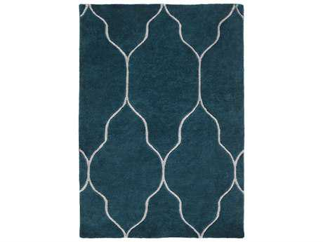 Surya Gates Modern Teal Hand Made Wool Moroccan 2' x 3' Area Rug - GAT1013-23