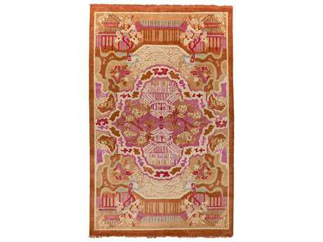 Surya Geisha Transitional Pink Hand Made Wool Floral/Botanical 2' x 3' Area Rug - GES1004-23