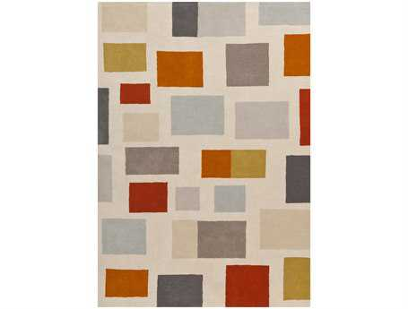 Surya Scion Modern Beige Hand Made Wool Geometric 3'3
