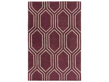 Surya Skyline Modern Red Hand Made Wool Geometric 3'3