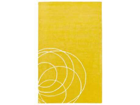 Surya Solid Bold Modern Yellow Hand Made Wool Geometric 2' x 3' Area Rug - SLB6807-23