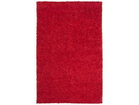 Surya Taz Transitional Red Hand Made Synthetic Solid 5' x 8' Area Rug - TAZ1007-58