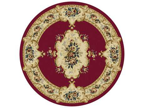 Tayse Laguna Transitional Red Machine Made Jute Floral/Botanical 5'3'' Round Area Rug - 4610 Red 6' Round