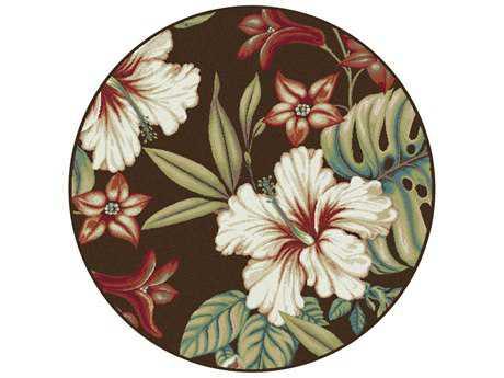 Tayse Capri Transitional Brown Machine Made Jute Floral/Botanical Area Rug- 0CPR1013-ROU