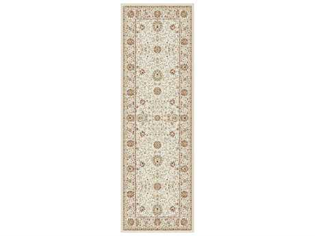 Tayse Fairmont Transitional Beige Machine Made Jute Oriental Area Rug- 0FMT1002-RUN