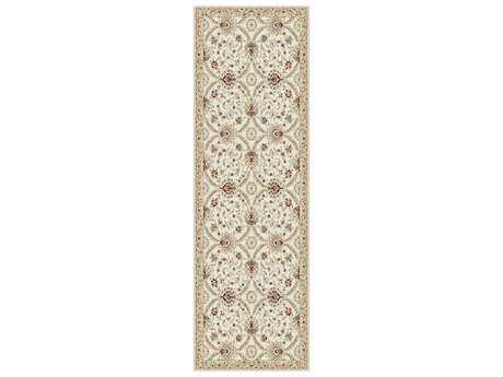 Tayse Fairmont Transitional Beige Machine Made Jute Floral/Botanical Area Rug- 0FMT1102-RUN