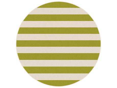 Tayse Garden City Transitional Green Machine Made Jute Stripes Area Rug- 0GCT1004-ROU
