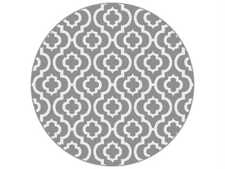 Tayse Metro Transitional Gray Machine Made Jute Moroccan 7'10'' Round Area Rug - 1029 Gray 8' Round