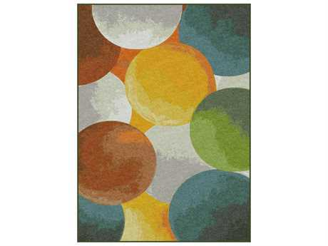 Tayse Expressions Modern Yellow Machine Made Synthetic Abstract 5'3'' x 7'3'' Area Rug - EXP1601 5x8