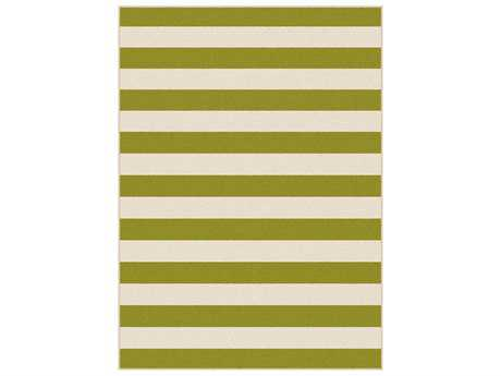 Tayse Garden City Transitional Green Machine Made Synthetic Stripes 5'3'' x 7'3'' Area Rug - GCT1004 Green 5x8