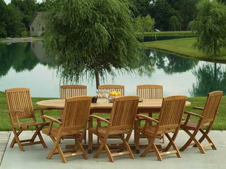 Three Birds Casual Braxton Teak 6 Person Teak Casual Patio Dining Set