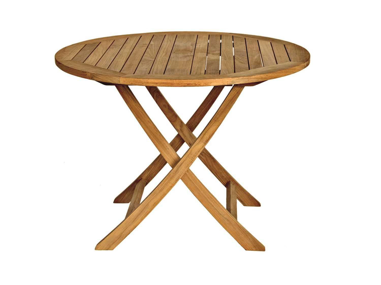 three birds casual cambridge teak 40 round dining table cr40
