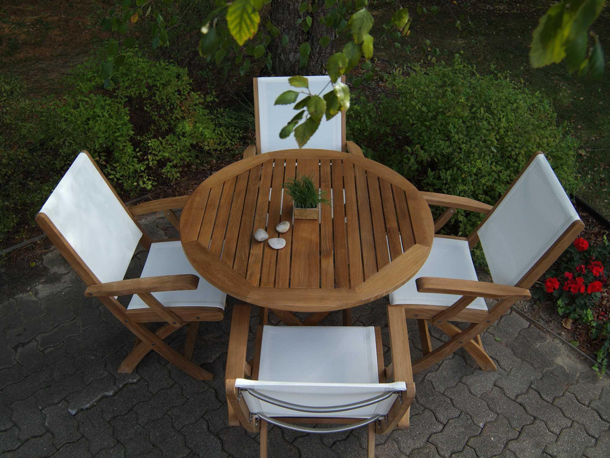 three birds casual cambridge teak 40 round dining table cr40. Black Bedroom Furniture Sets. Home Design Ideas