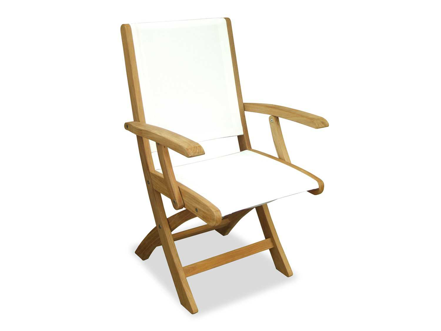 Three Birds Casual Riviera Teak Sling Folding Lounge Chair