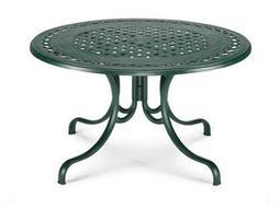 Telescope Casual Cast Aluminum 48 Round Dining Table with Umbrella Hole