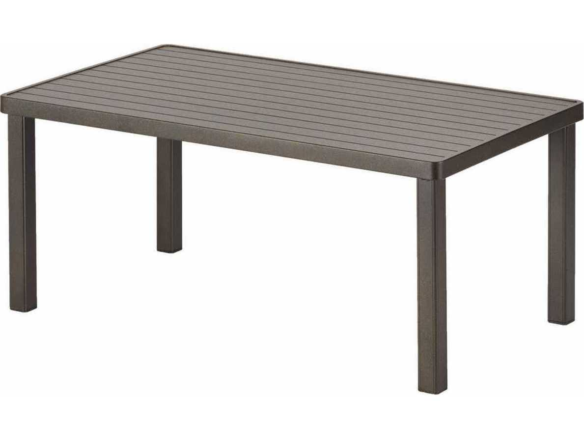 Telescope Casual Aluminum Slat Top 42 X 24 Rectangular Coffee Table 3010