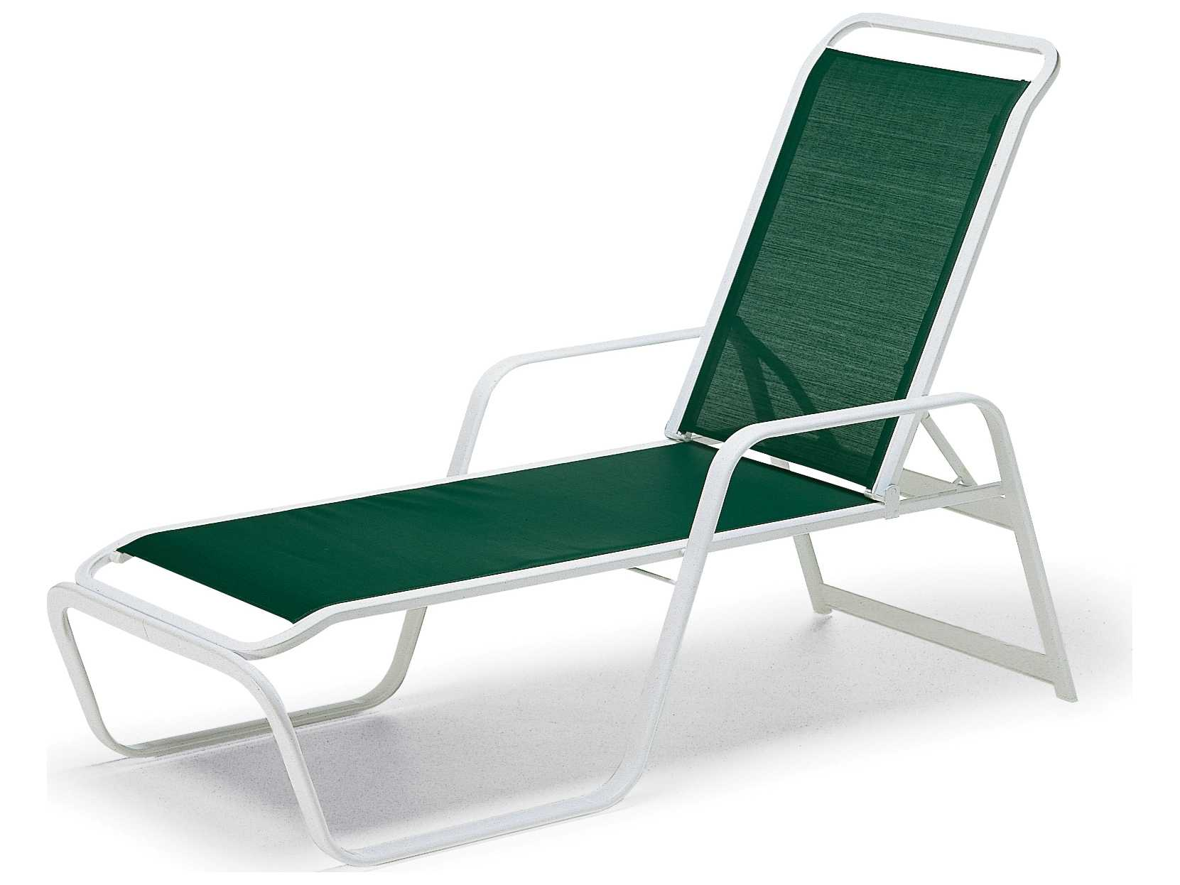 Telescope casual vanese sling aluminum stackable chaise for Aluminum sling chaise lounge