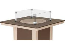 Telescope Casual Fire Table Square Glass Surround for 32 Square MGP Top