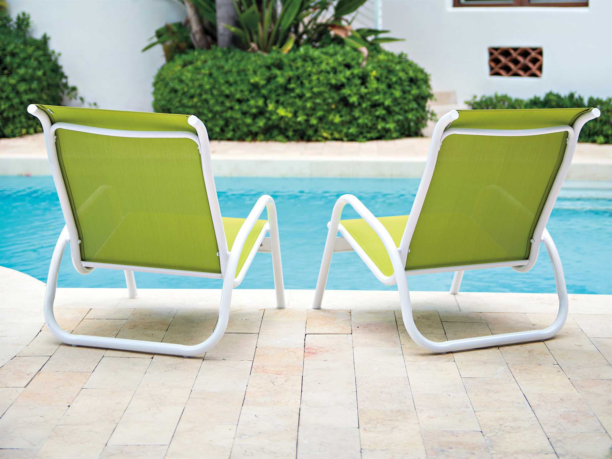 Telescope Casual Gardenella Sling Pool Aluminum Lounge Set