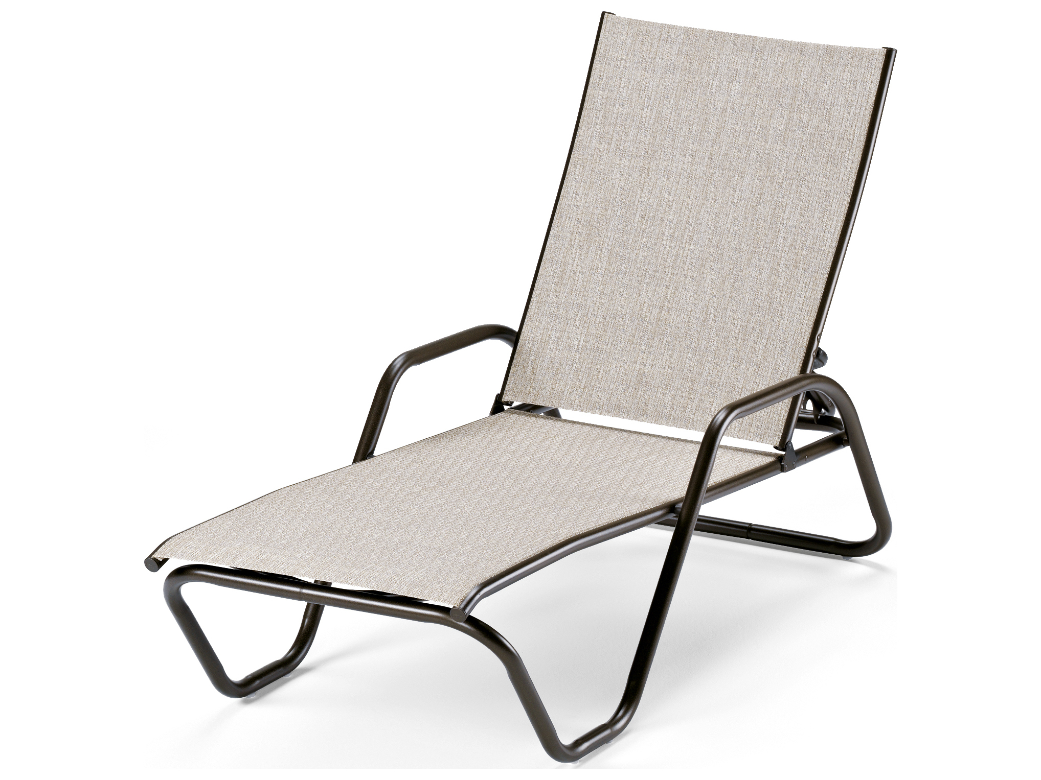 Telescope casual gardenella sling aluminum stackable for Chaise longue textilene alu