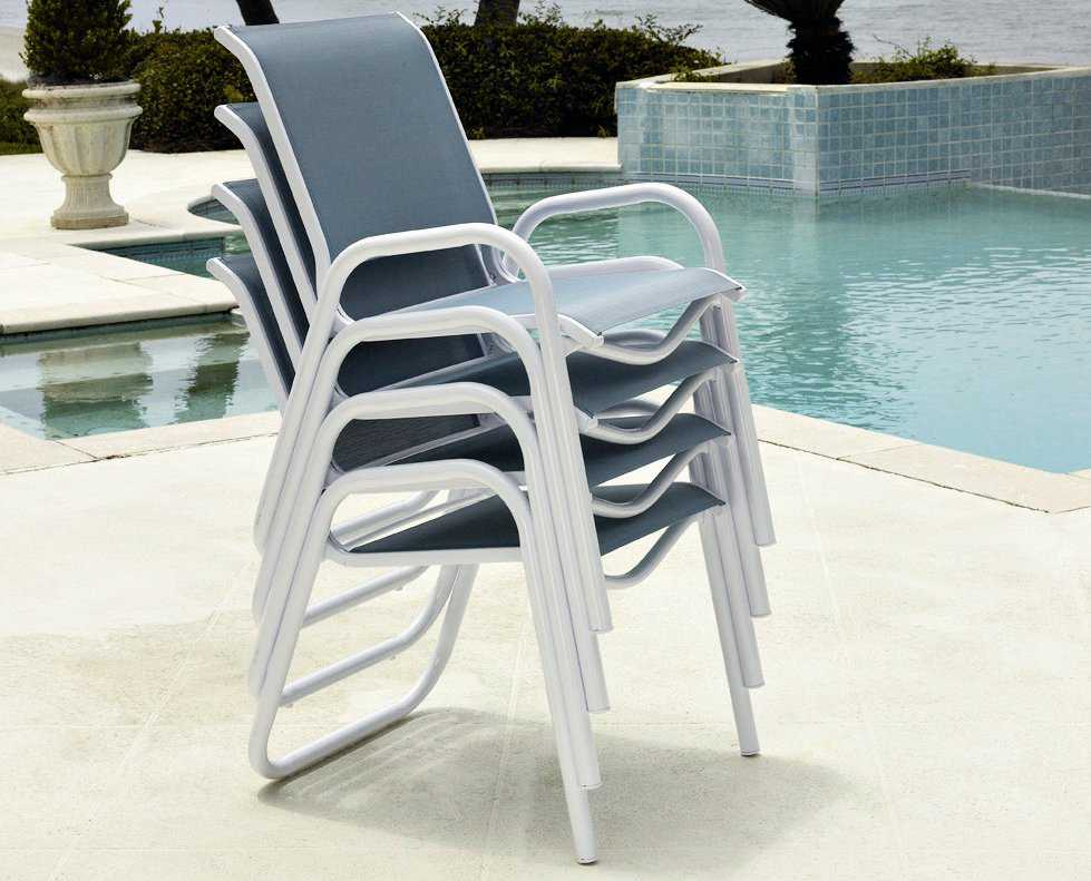 reliance sling aluminum stackable dining chair tc8l70 reliance sling