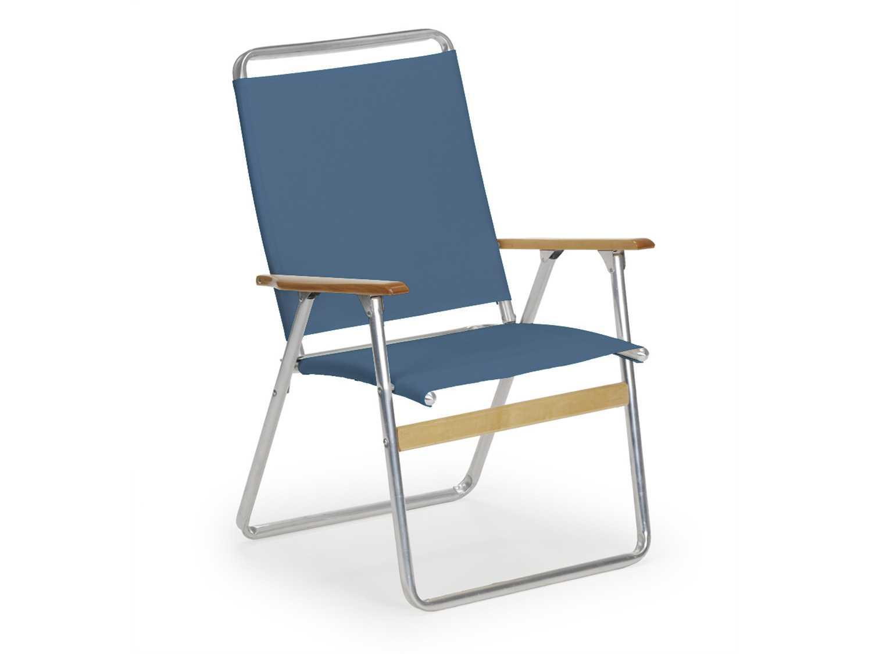 Telescope Casual Telaweave Aluminum High Back Folding Arm Chair