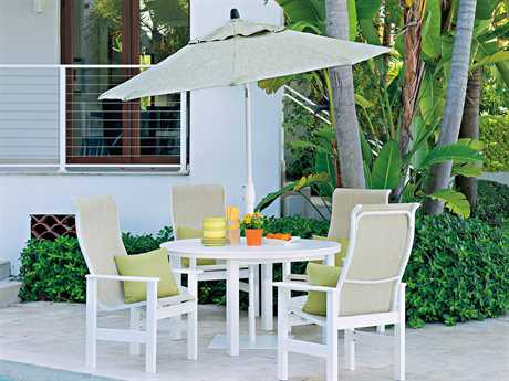 Telescope Casual Leeward Mgp Sling Recycled Plastic 4 Person Sling Casual Patio Dining Set